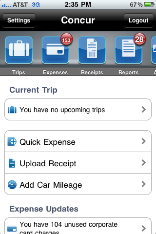 Concur - Business Travel and Expense Reports