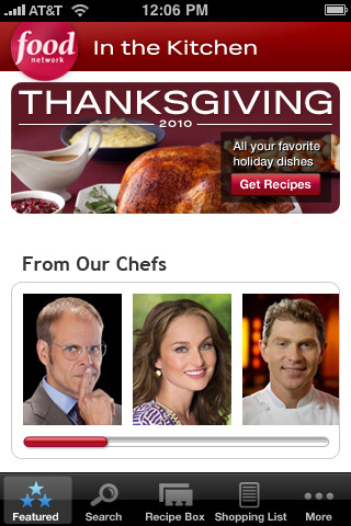 In the Kitchen: Food Network Recipes, Chefs, Cooking Tools and Shopping Lists