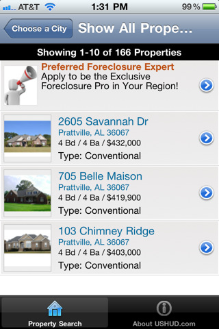 Foreclosure Search by USHUD.com