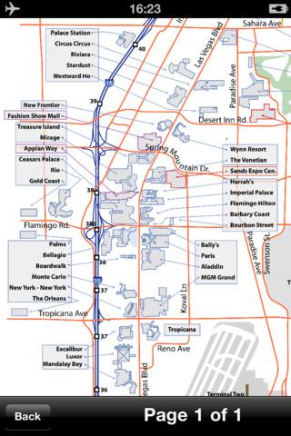 Las Vegas Maps  Download Transit Maps And Tourist Guides