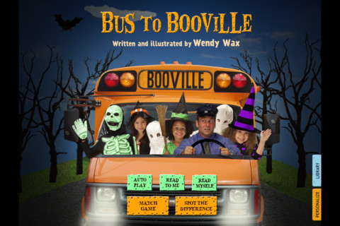 Bus To Booville: a funny Halloween costume story book for kids, by Wendy Wax (by Auryn Apps)