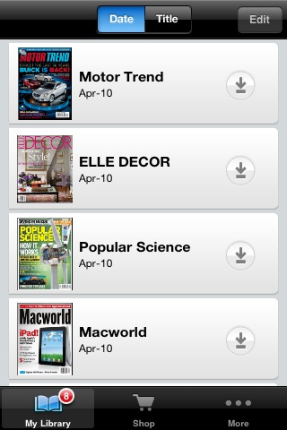 Zinio Magazine Newsstand & Reader