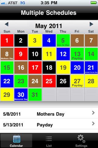 Usps Color Coded Calendar