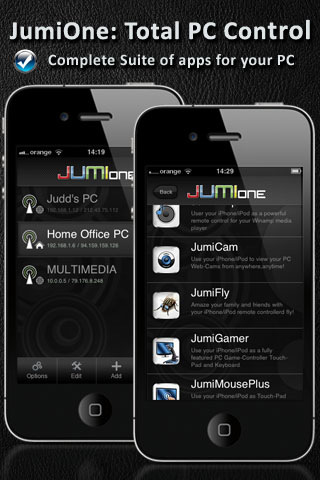 JumiOne - Desktop/Remote/Keyboard/Mouse, Remote Webcam & Media Remote for PC program directv remote