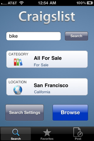 Craigslist Mobile - Photo Preview & Posting for iPhone and iPod