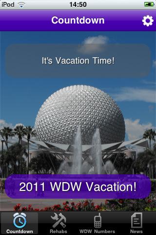 Disney World Vacation Countdown Travel Vacation Countdown