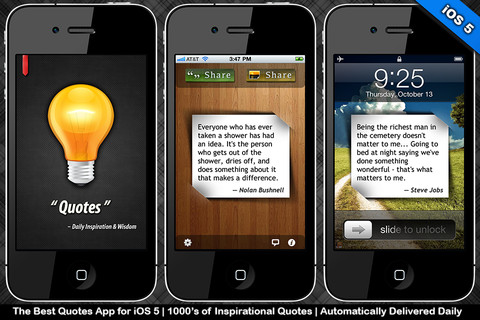 Quotes: Daily Inspiration & Wisdom with Lock Screen Wallpapers (iOS 5 Edition)