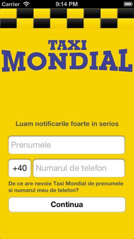 Taxi Mondial transport urban bucuresti