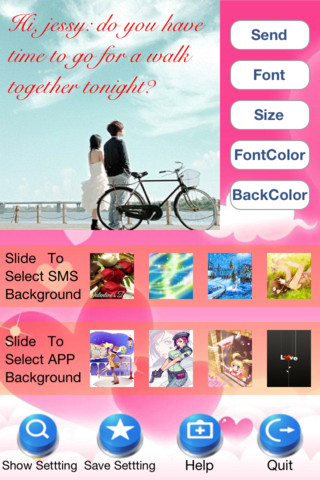 Color Texting Express HD - Colored bubble Text Messages