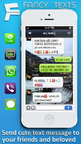Funny and fantastic fonts for whatsapp viber line iphone ipad ios