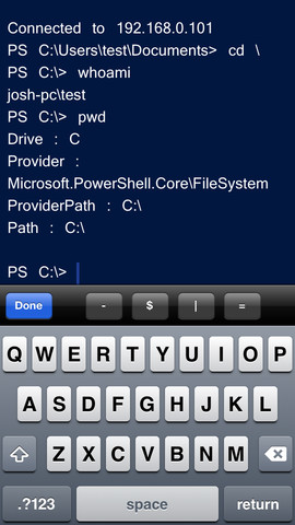 PowerShell Mobile Administrator remote management windows 10