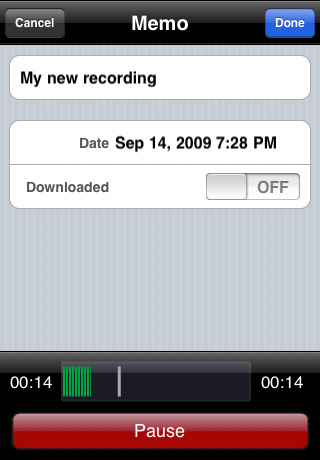 Audio Memos SE - The Voice Recorder