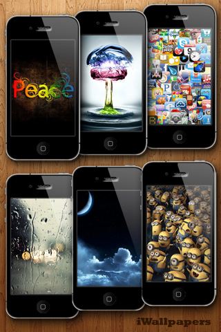 iWallpapers HD - Retina Background & Wallpaper With Glow Effects