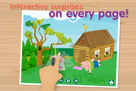 3 Little Piggies Free - Interactive Story Book with Animations