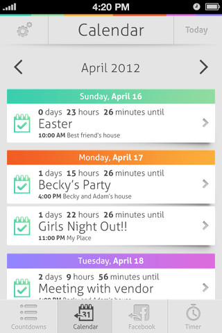 Countdown+ Lite (Calendar and Facebook Event Countdowns with Timer presets)
