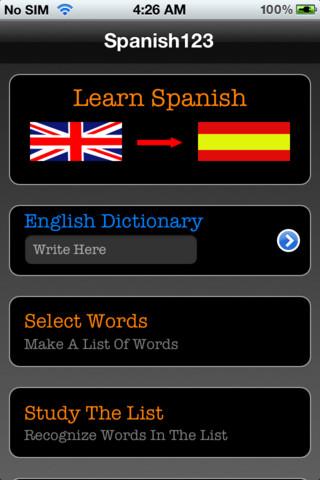 Learn Spanish - Spanish Vocabulary Learning Program Plus English Dictionary learning spanish online
