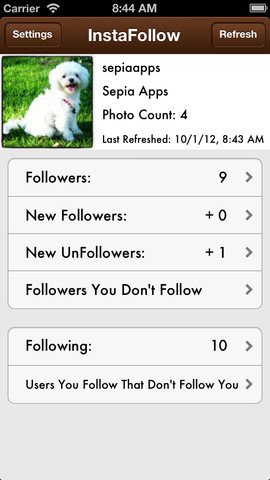 InstaFollow Lite - Track Instagram Followers and UnFollowers 1.1.0