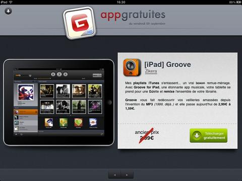 AppGratuites pour iPad - 1 nouvelle app gratuit...