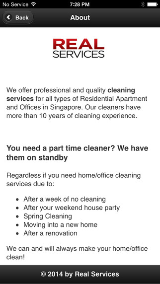 Real Services types of cleaning agents