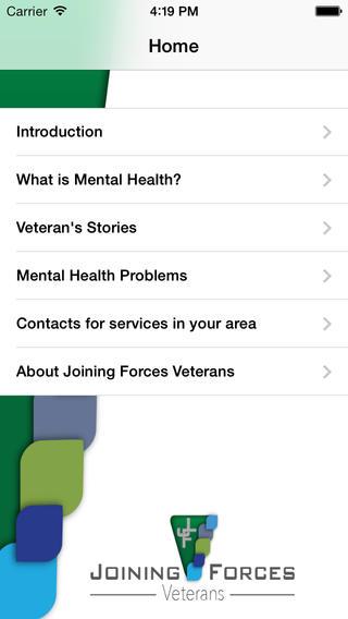 Veterans Mental Health mental health services