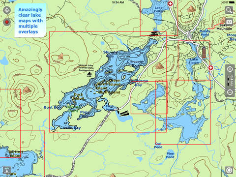 Aqua Map Vermont Lakes HD - GPS Offline Nautical Charts vermont map