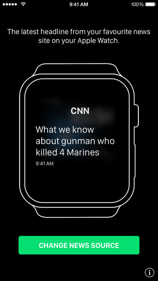 Dash News for Apple Watch - Top Headlines in a Watch App and Glance smartphone watch
