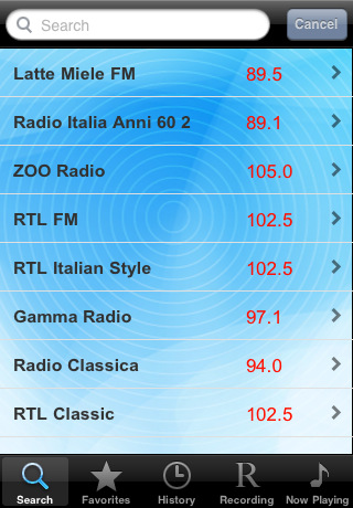 Radio Italia - Alarm Clock + Recording / Radio Italiana - Sveglia + Registrazione