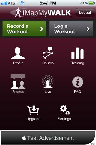 iMapMyWALK - walk, walking, pedometer, GPS tracking, calorie, training