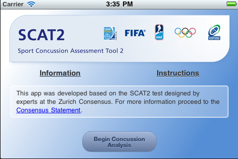 SCAT2 - Sport Concussion Assessment Tool skatesports