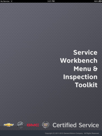 Service Workbench Menu & Inspection Toolkit seville workbench