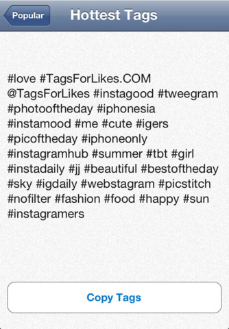 Best Instagram Tags For Likes Copy And Paste