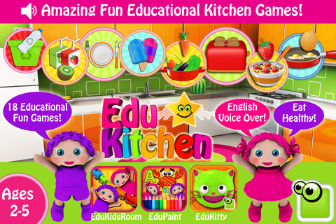 Preschool EduKitchen-Free Amazing Early Learning Fun Educational Games for Toddlers and Preschoolers in the Kitchen!