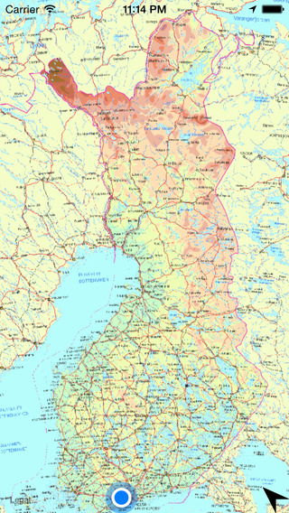 Map of Finland finland food
