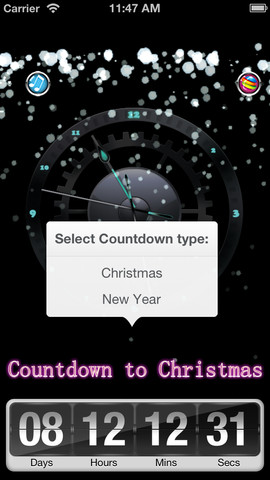 Countdown Clock for Christmas, Silvester, 2013