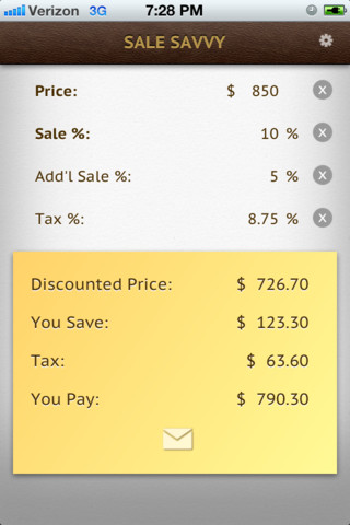 Sale Savvy - discount, sale calculator scoreboards for sale