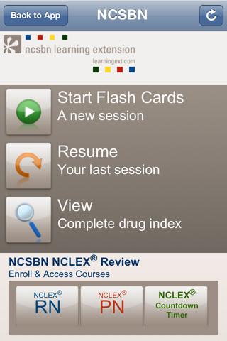 NCSBN Learning Extension Medication Flashcards