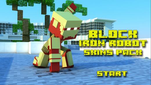 Block Iron Robot 3D Model and Skins for minecraft biologycorner