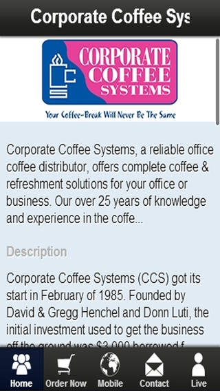 Corporate Coffee Systems top 5 coffee companies