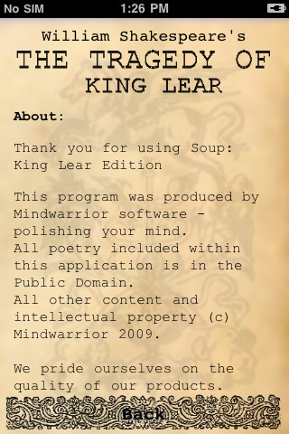 Soup: King Lear Edition