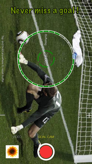 Goal Cam - Video camera for soccer and sports with video buffering and pause - resume recording video recording devices