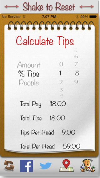 Social Tip Tap - Engage in a social dining experience with free tip calculator, share experience with Twitter and Facebook, call cab, find nearby bars and restaurants wildlife experience