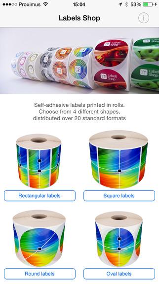 Labels App printing labels