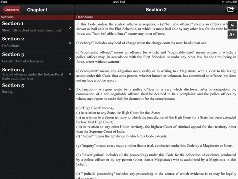 Code of Criminal Procedures for iPad