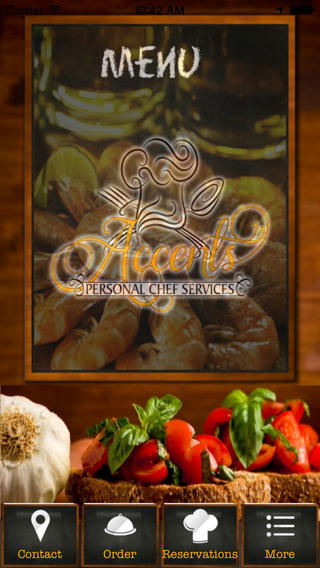 Accents Personal Chef Services spanish accents