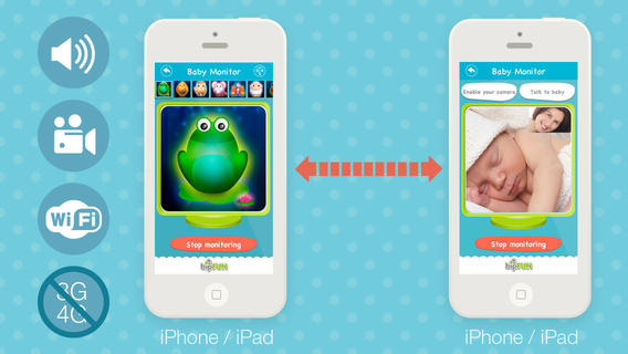 Baby Monitor Lite: Turn your device into a wifi video surveillance system for your toddlers wifi baby monitoring system