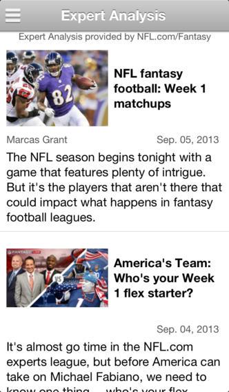 NFL Fantasy Football Advisor nfl fantasy football