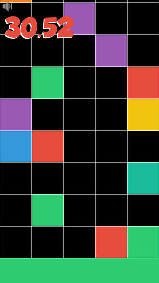Don`t tap any black tile! Touch the lowest colored tile only! Reach the target as soon as possible. artwork on tile
