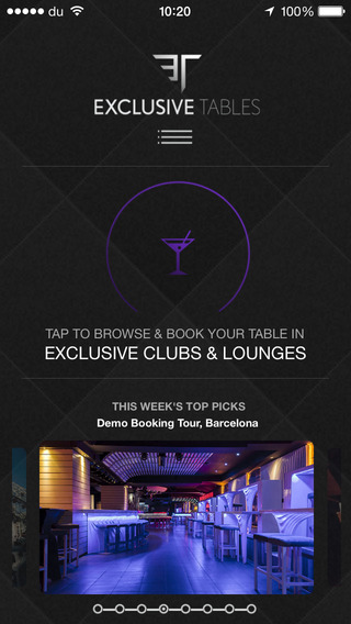 Exclusive Tables - Booking VIP tables in elite nightclubs made easy restaurant tables