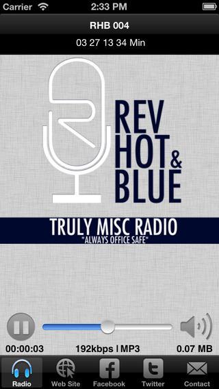 REV HOT & BLUE - Truly Misc Radio bodybuilding misc