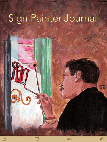 Sign Painter Journal for iPad - a mobile diary app for tracking of sign painting projects twitter sign in